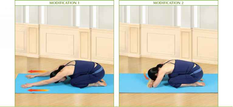Balasana Modification