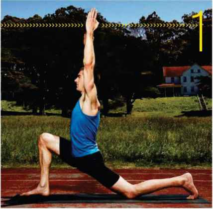 Anjaneyasana With Leg Bend