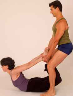 Assisted Dhanurasana